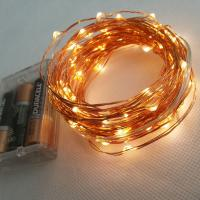 Quality 10m 100 LEDs Battery Powered Copper Wire LED Strip Light for sale