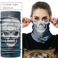 China 100% Cotton Printed Seamless Customized Face Coverings on sale