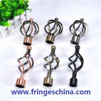 China Classical delicate iron curtain rod finials for home decoration on sale