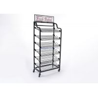 China Wholesale Custom OEM / ODM Retail Store Display Products Storage Metal Iron Wire Rack on sale