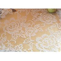 China Embroidered Floral Sequin Netting Fabric , Sequin Tulle Fabric For Ivory Wedding Dresses on sale