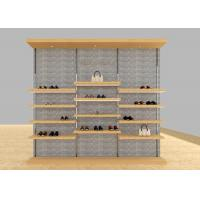 China Casual Shoe Shop Display Stands , Modern Footwear Display Shelves For Decoration on sale