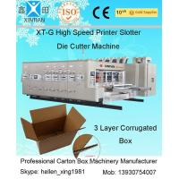 China High Speed Corrugated Sheet Flex Die Cut Sticker Printing Machine of Slotting Unit on sale