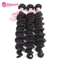 Loose Deep Wave Real Brazilian Hair Bundles , Curly Human Hair Weave