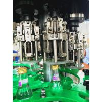 Quality Carbonated alcohol beverage , 3 in 1 Glass Bottle Filling Machine with 18 heads for sale