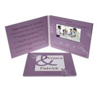 China A5 Celebration Digital Video Brochure 1GB Memory UV Printing Video Message Card on sale