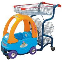Quality Commercial Cute Kids Play Shopping Trolley Zinc Plated With Baby Car for sale