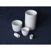 Quality Good thermal shock Ceramic Cylindrical Aluminum Oxide Special shaped Crucibles for sale