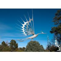 Quality Animal Garden Decoration Stainless Steel Sculpture , Flying Bird Sculpture Metal for sale