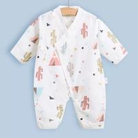 Quality Cute Summer Muslin Baby Pajamas Breathable For Babies Short Sleeves Romper for sale