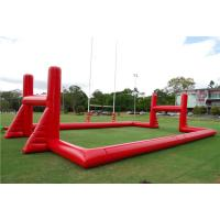 China Mobile Blow Up Rugby Field Inflatable Sports Games With Air Blower on sale