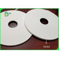Quality 26gsm / 28gsm White Color Cigarette Paper Width 30mm 32mm No Harm To Human for sale