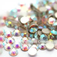 China loose rhinestone glue on flat back crystal rhinestones beads for crafts ss30 crystal ab on sale