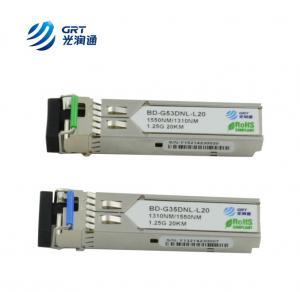 Quality OEM manufacturer single-mode 1310Tx/1550Rx 1.25G 20km BiDi SFP Optical Module for sale