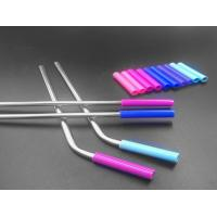 Quality Stainless Steel Flexible Silicone Tubing Tasteless Food Grade Silicone Straw Color for sale