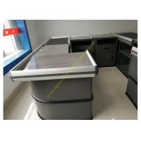 Quality Electronic Supermarket Conveyor Belt Checkout Counter With Electrical Engine for sale