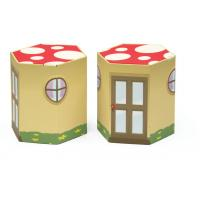 China  Recycled Corrugated Cardboard Furniture ENCF022  Round Stool with Cartoon pictures   on sale