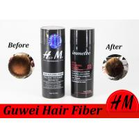 China Guwei Hm 28g Full Hair Thicker Anti Hair Loss Spray Hair Building Fibers Refillable on sale