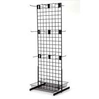 "Quality Adjustable two sided Galvanized Wire Metal floor Display Racks L 24"" W 25"" H 66"" for sale"