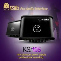 Quality XOX KS105 External USB Sound card with 48V Phantom Power Supply 3.5mm jack for sale