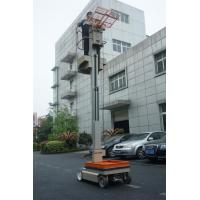 Quality One Man Mast Type Electric Aerial Work Platform Order Picker For Warehouse for sale