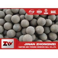 Buy cheap Mineral used forged steel balls B2 B3 60mn material HRC 55-65 from wholesalers