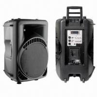 China 15 inches Portable Sound System with MP3 Player, iPod/Bluetooth/300W Power/8Ω Nominal Impedance on sale