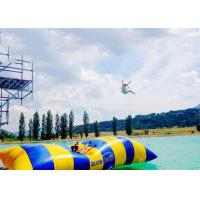 Quality Crazy Inflatable Water Trampolines / Inflatable Water Pillow For Jumping for sale