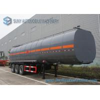 Quality Carbon Steel container semi trailer 45000L 3 Axle Ellipse Shape for sale