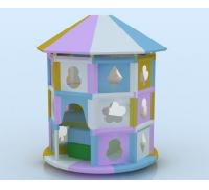 Quality Children Indoor Playground Equipment- Turning Octagonal Pavilion for sale