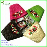 Quality Promotional cheap wheat straw beach bags for sale