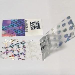 Quality Cheap QR code hologram sticker warranty void if broken stickers for sale