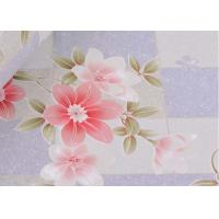 Quality Removable Large Floral Print Wallpaper / Country Flower Wallpaper Washable ,0.53*10m/ roll for sale