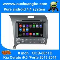 Quality Ouchuangbo Car Stereo System for Kia Cerato /K3 /Forte 2013-2014 Android 4.4 GPS Sat Nav Multimedia OCB-8051D for sale