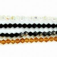 China Faceted Glass Bead in Bicone Shape, Different Sizes and Colors Available on sale