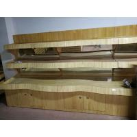 Quality Wooden Shelves Rack Vegetable and Fruit Display Stand For Supermarket for sale