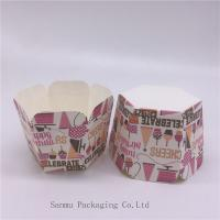 Quality Personalized Printed Cupcake Wrappers , Greaseproof Square Cupcake Baking Cups Bakery Set for sale