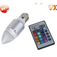 Quality 3w E27 Red,Green,Blue RGB Color Changing Remote Controlled LED Light Bulbs AC90 - 240V for sale