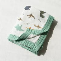 Quality Reactive Printing Tummy Time Blanket Fashionable Reusable Newborn Muslin Wraps for sale