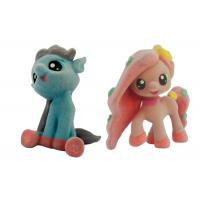 Buy Wry Neck Plastic Pony Animal , Male Figure Toys Black Hair On Ground at wholesale prices