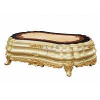 China French Luxury Center table Gold Storage Carved Wooden Coffee Table on sale