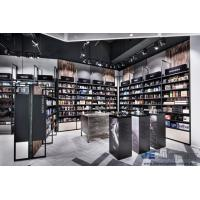 Quality Beauty Shop Interior design of the Cosmetics Display Showcase made by metal rack with Wooden Cabinets for sale