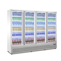 Quality Commercial Beverage Chiller Soft Drink Refrigerator With Glass Door for sale