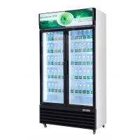 Quality Upright glass door beverage display cooler with static cooling cheap price for sale