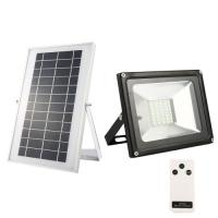 Quality 20W Solar flood light 40 LED white light waterproof IP65 rechargeable energy light with remote control for sale