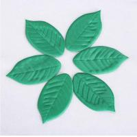 China Small Featival Christmas Ornament Crafts Lovely Satin Leaves Shape on sale