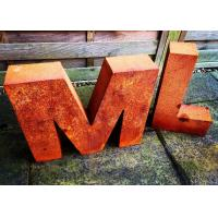 Quality Garden Art Metal Sculpture Corrosion Stability Letter Outdoor Sculpture for sale