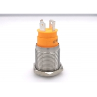 Quality 15A Momentary 19mm Stainless Anti Vandal Push Button Switch for sale