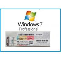 Quality Microsoft Windows 7 Product Key Code Win7 Professional Genuine OEM License Activation Online for sale