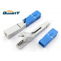 Quality Insertion Loss 0.2dB SC UPC Fiber Optic Fast Connector 50mm Dimension for sale